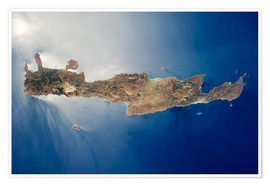 Poster Premium  View from space of the island of Crete