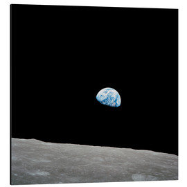 Stampa su alluminio  Earth seen from the Moon - Stocktrek Images