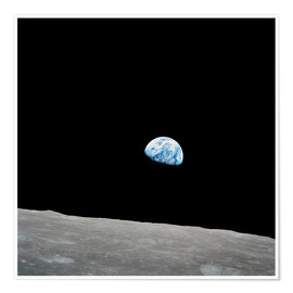 Poster Premium  Earth seen from the Moon - Stocktrek Images