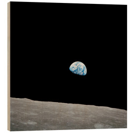 Stampa su legno  Earth seen from the Moon - Stocktrek Images