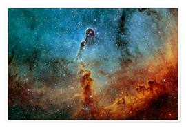 Poster Premium  The Elephant Trunk Nebula - Rolf Geissinger