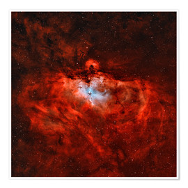 Poster Premium The Eagle Nebula in the constellation Serpens