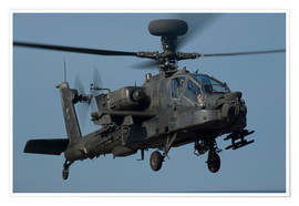 Poster Premium  A U.S. Army AH-64 Apache helicopter.