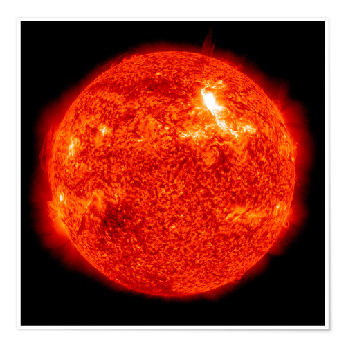 Poster Premium Solar flare on the Sun's surface