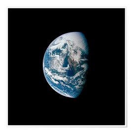 Poster Premium View of the Earth from the spacecraft Apollo 13