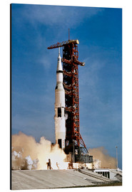 Alluminio Dibond  Apollo 11 space vehicle taking off from Kennedy Space Center - Stocktrek Images
