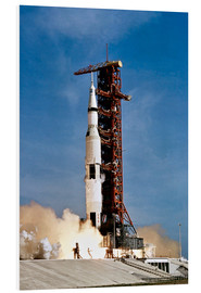 Stampa su schiuma dura  Nave spaziale Apollo 11 decolla dal John F. Kennedy Space Center - Stocktrek Images