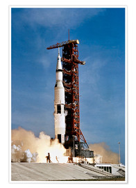Poster Premium  Nave spaziale Apollo 11 decolla dal John F. Kennedy Space Center - Stocktrek Images