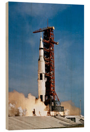 Stampa su legno  Nave spaziale Apollo 11 decolla dal John F. Kennedy Space Center - Stocktrek Images