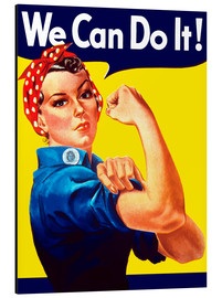 Stampa su alluminio  Rosie the Riveter, We can do it! - John Parrot