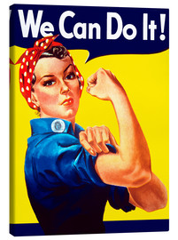 Stampa su tela  Rosie the Riveter, We can do it! - John Parrot
