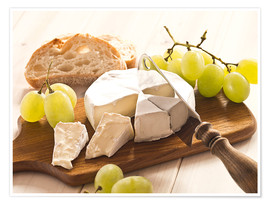 Poster Premium  Cheese and grapes - Edith Albuschat