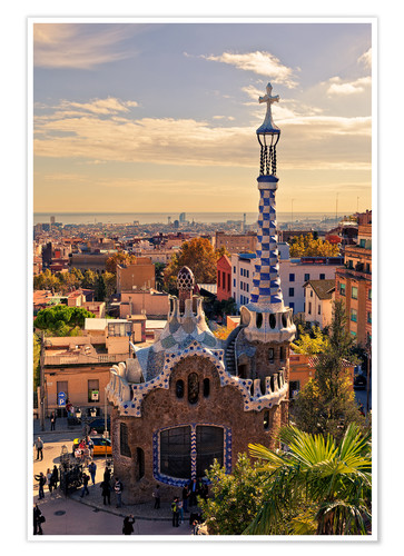 Poster Premium Park Guell a Barcellona