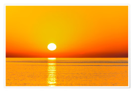 Poster Premium Sunrise over The Sea