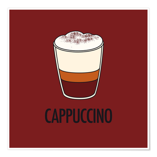 Poster Premium Cappuccino, for the italian lover in you!