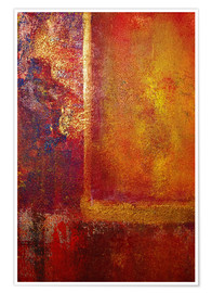 Poster Premium Color Fields 'Red Orange Yellow Gold'