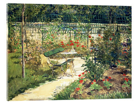 Stampa su vetro acrilico  The Bench in the Garden of Versailles - Edouard Manet