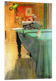 Vetro acrilico  Brita at the Piano - Carl Larsson