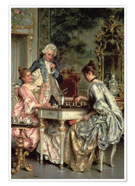 Poster Premium The Game of Chess