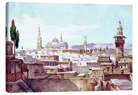 Stampa su tela  A View of Damascus - Charles Pierron