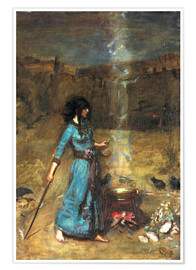 Poster Premium  Cerchio magico - John William Waterhouse