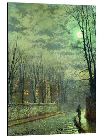 Stampa su alluminio  Going Home by Moonlight - John Atkinson Grimshaw