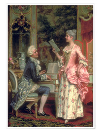 Poster Premium  The Singing Lesson - Arturo Ricci