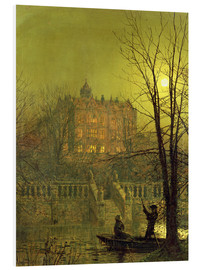 Stampa su schiuma dura  Under the Moonbeams, 1882 - John Atkinson Grimshaw