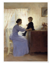 Poster Premium  Mother and Child - Peter Vilhelm Ilsted