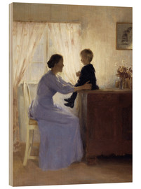Stampa su legno  Mother and Child - Peter Vilhelm Ilsted