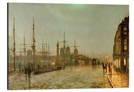 Stampa su alluminio  Hull Docks by Night - John Atkinson Grimshaw