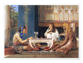 Poster Premium Egyptian Chess Players