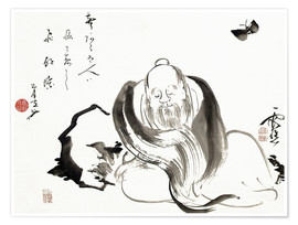 Poster Premium Zhuang Zi dreaming of a butterfly