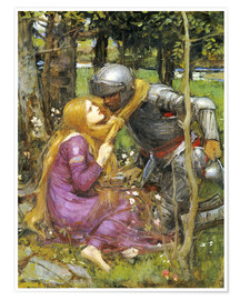 Poster Premium  Uno studio per La Belle Dame sans Merci - John William Waterhouse