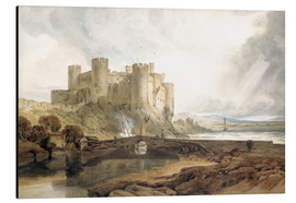 Alluminio Dibond  Conway Castle, c.1802 - Joseph Mallord William Turner