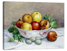 Stampa su tela  Still Life with a Pomegranate - Pierre-Auguste Renoir