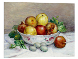 Stampa su PVC  Still Life with a Pomegranate - Pierre-Auguste Renoir