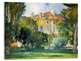 Stampa su vetro acrilico  The House at Jas de Bouffan - Paul Cézanne
