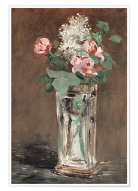 Poster Premium Flowers in a Crystal Vase