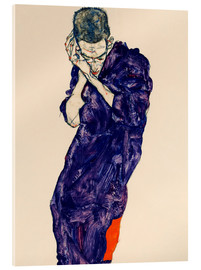 Stampa su vetro acrilico  Youth with violet frock - Egon Schiele