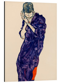 Alluminio Dibond  Youth with violet frock - Egon Schiele
