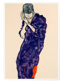 Poster  Youth with violet frock - Egon Schiele