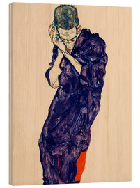 Legno  Youth with violet frock - Egon Schiele