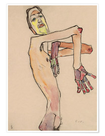 Poster Premium  Nude with crossed arms - Egon Schiele