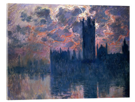 Stampa su vetro acrilico  Houses of Parliament, Sunset - Claude Monet