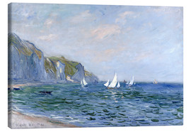 Tela  Rocks and sailing boats in Pourville - Claude Monet