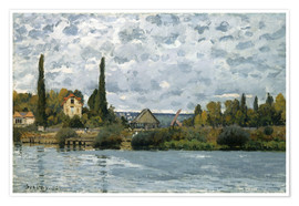 Poster Premium The Seine at Bougival