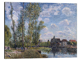 Stampa su alluminio  The Loing in Moret in May - Alfred Sisley