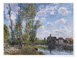 Poster Premium The Loing in Moret in May