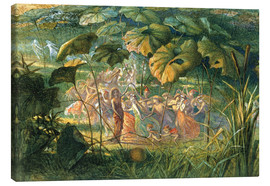 Stampa su tela  Fairy Dance in a Clearing - Richard Doyle